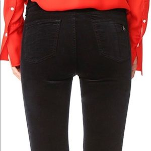 Rag & Bone Velveteen Cropped, Flared Jean